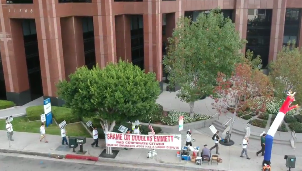 Image of Demonstration at 11766 Wilshire Blvd, Los Angeles