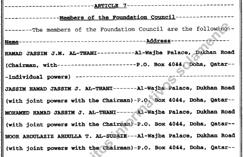 Panamanian Incorporation Document Excerpt