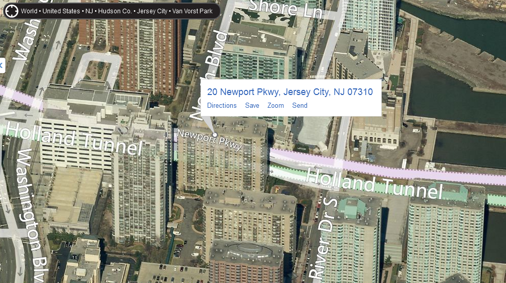 20 Newport Parkway 3d Map View