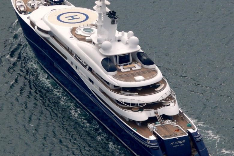 Picture of HBJ's #300 million yacht